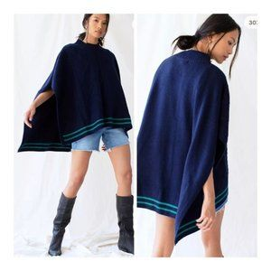 Free People Harbour Stripe Cable Poncho